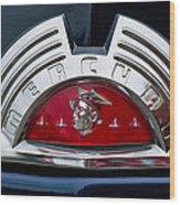 Close-up Of A Mercury Classic Car Of Wood Print