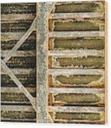 Close-up Of A Weathered Wall, Los Wood Print