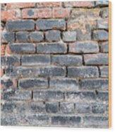Close-up Of Old Brick Wall Wood Print
