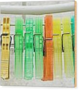 Clothes Pegs Wood Print