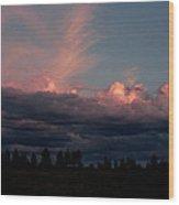 Sunlight On The Cloud Tops Wood Print