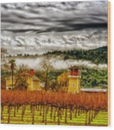 Clouds Over Napa Valley Wood Print