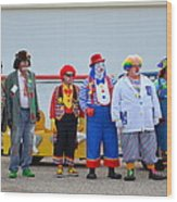 Clown Lineup Wood Print