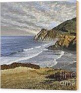 Coastal Beauty Impasto Wood Print
