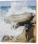 Coastal Collision Wood Print