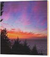 Coastal Skies Wood Print