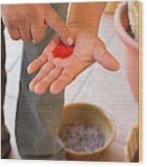 Cochineal Dye Wood Print