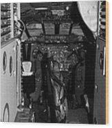 cockpit of the British Airways Concorde Wood Print