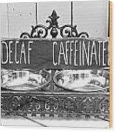Coffee Bean Holder Wood Print