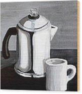 Coffee's On Wood Print