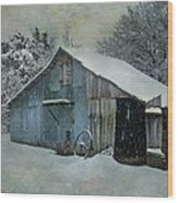 Cold Day On The Farm Wood Print