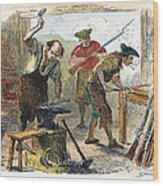 Colonial Blacksmith, 1776 Wood Print