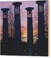 Colonnade In A Park At Sunset, 95 Bell Wood Print