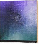 Color Sensation Blue Wood Print