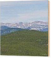 Colorado Continental Divide 5 Part Panorama 1  Wood Print