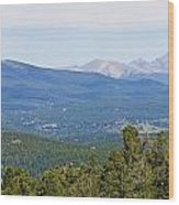Colorado Continental Divide 5 Part Panorama 5 Wood Print