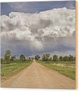 Colorado Country Road Stormin Skies Wood Print
