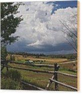 Colorado Ranch Wood Print by Michael J Bauer