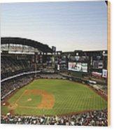 Colorado Rockies V Arizona Diamondbacks Wood Print