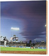 Colorado Rockies V Los Angeles Dodgers Wood Print