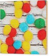 Colorful Bonbons Wood Print