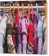 Colorful Coats Wood Print