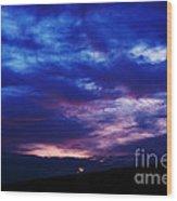 Colorful December Sunrise Wood Print