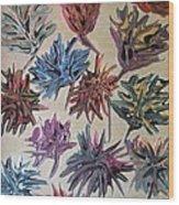 Colorful Flowers Wood Print