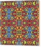 Colorful Folklore Pattern Wood Print