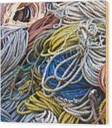Colorful Lines Wood Print