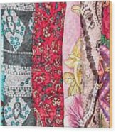 Colorful Scarves Wood Print