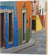 Colorful Street, Mexico Wood Print