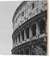 Colosseum - Rome Italy Wood Print