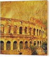 Colosseum Wood Print