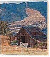 Columbia River Barn Wood Print