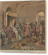 Columbus At Barcelona Wood Print