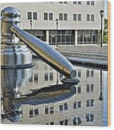 Columbus Ohio Justice Center Wood Print by Frozen in Time Fine Art Photography