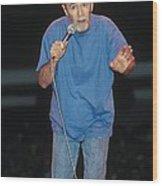 Comedian George Carlin Wood Print