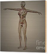 Conceptual Image Of Human Nervous Wood Print