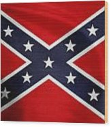 Confederate Flag 5 Wood Print
