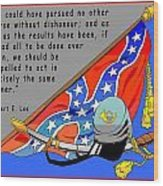Confederate States Of America Robert E Lee Wood Print