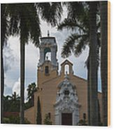 Congregational Church Of Coral Gables Wood Print