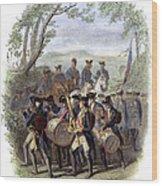 Continental Army Band Wood Print