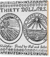 Continental Banknote, 1776 Wood Print
