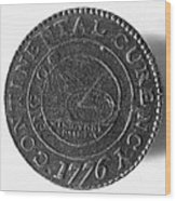 Continental Dollar, 1776 Wood Print