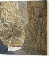 Contrasting Canyon Colors In Big Painted Canyon Trail In Mecca Hills-ca Wood Print