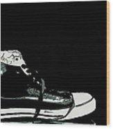 Converse Sports Shoes Wood Print