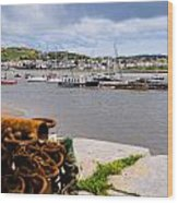 Conway Harbour Wood Print