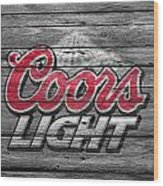Coors Light Wood Print