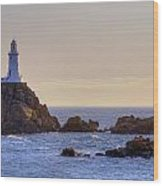 Corbiere Lighthouse - Jersey Wood Print